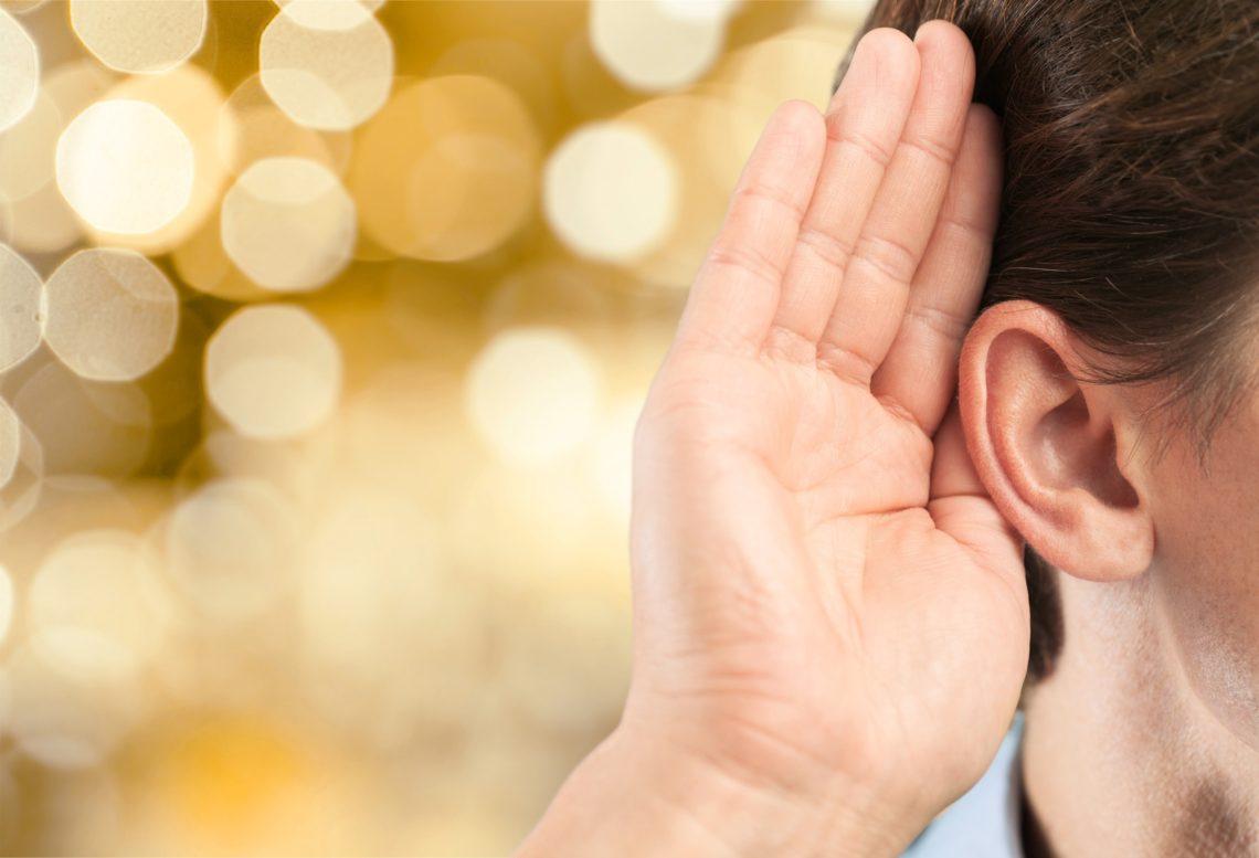 Ear listening.